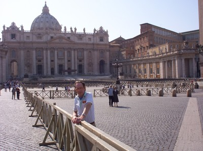 VATICAN CITY ROME ITALY.  St. Peters Square  ,early morning.