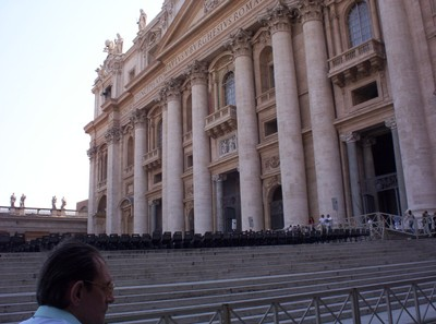 VATICAN CITY. ITALY.  Front of St. Peters Cathedral.