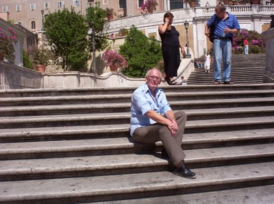 ROME ITALY.   An empty step to sit on. !