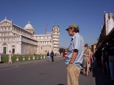 PISA  ITALY.   Cathedral and Leaning Tower.
