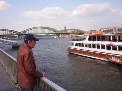 RIVER RHINE IN COLOGNE GERMANY