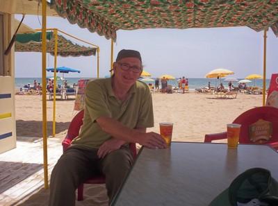 SALOU,  SPAIN..  On the  beach.