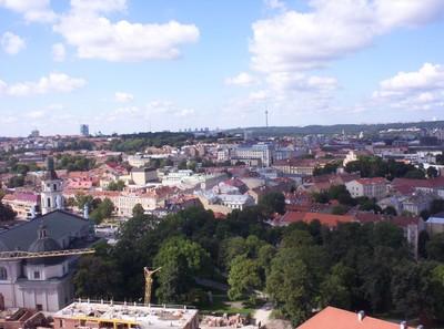 VILNIUS LITHUANIA..  View from Gediminas Tower.