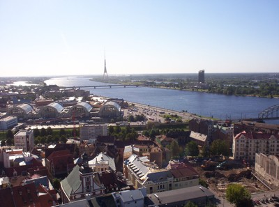 RIGA LATVIA.  View from St Peters Tower.
