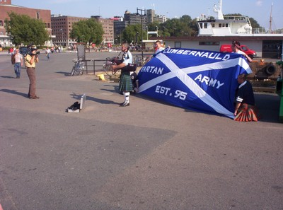OSLO  NORWAY     Scottish Football Supporters.