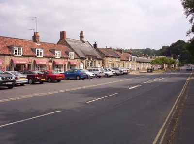 THORNTON-LE-DALE.,,YORKSHIRE  UK.--  The main road ,the A170,  runs through the  village.  from  Thirsk  to Scarborough.