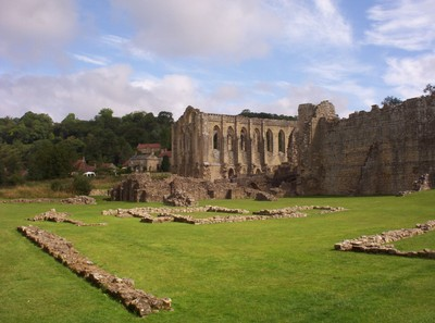 RIEVAULX  ABBEY, .---There is a cafe and  toilets for  tourists.
