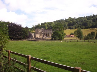 RIEVAULX  ABBEY.-- The first  Abbot,   William , started the stone  buildings,  near  the river  Rye.