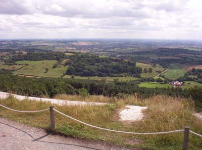 SUTTON  BANK,    View towards the Vale of York.    White Horse Ear in view.