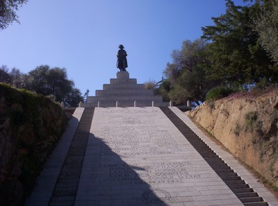 AJACCIO CORSICA    Napoleon statue memorial.