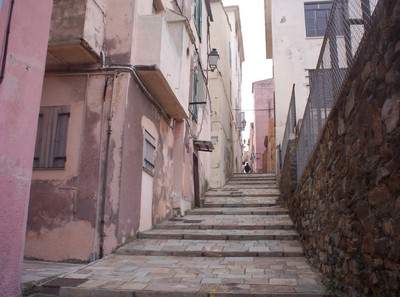 BASTIA CORSICA   Street up to Citadella.