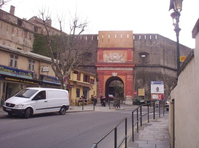 BASTIA CORSICA.     Entrance to Citadella.