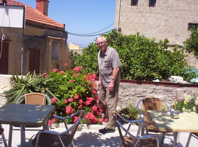 GREECE   RHODES.   Roof garden of Rooms..