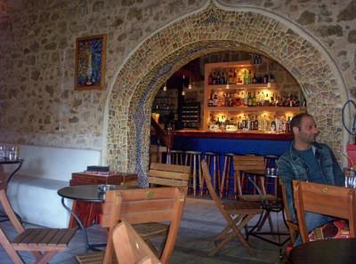 GREECE  RHODES---   In a Bar.