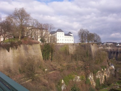 LUXEMBOURG  CITY.  Upper city on cliff.