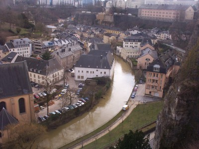 LUXEMBOURG  CITY..     Lower City.from  bridge.