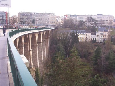 LUXEMBOURG  CITY..   Bridge over the lower city ,by the river Petrusse.