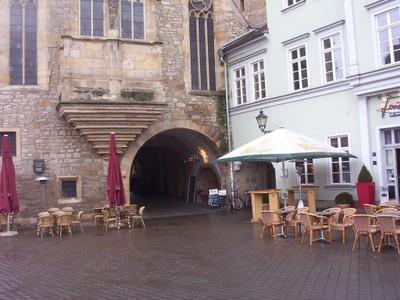 GERMANY  ERFURT.   Entrance to the Kramerbrucke.