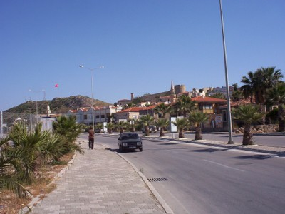 TURKEY  CESME...   Walk from ferry terminal to town,   about 15 minutes.