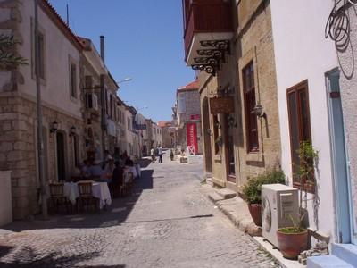TURKEY  ALCATI .    Dinning in the shade.