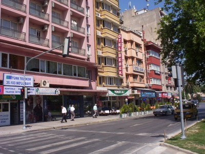 TURKEY  IZMIR.----.Row of Hotels.   I stayed at one.
