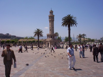 TURKEY  IZMIR.  Clock Tower, completed in 1901.  Made in Marble.  Height 25m  { 82ft }
