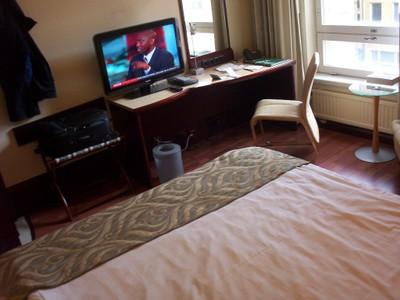 HELSINKI  FINLAND.  Hotel room.