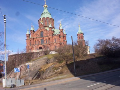 HELSINKI FINLAND.     Uspenski   Eastern Orthodox  Church.