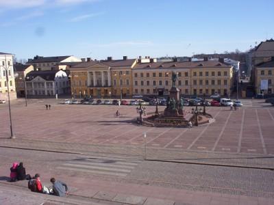 HELSINKI  FINLAND .    Senate Square.  Statue of Alexander11.