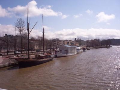 PORVOO  FINLAND.    River Porvoonjoki.