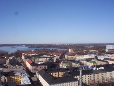 HELSINKI  FINLAND.   View from Tower at Stadium.