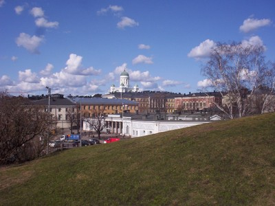 HELSINKI  FINLAND.    View from Uspenski Cathedral.