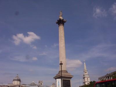 LONDON  ENGLAND.   Nelson  Column  in  Trafalgar  Square.