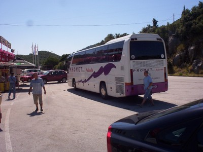 CROATIA,  --  Coffee stop  on  way  to  Mostar  by  bus,  from  Spit  Croatia.