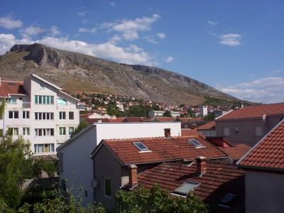 MOSTAR ,  BOSNIA  HERZEGOVINA.--   Mountains  around  Mostar.