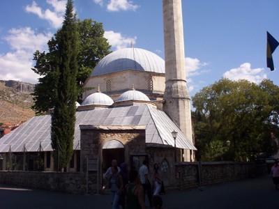 MOSTAR,  BOSNIA  HERZEGOVINA,    Koski Mehmed  Pasa  Mosque.