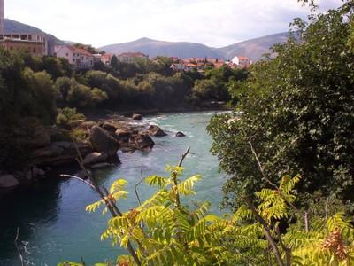 MOSTAR,  BOSNIA  HERZEGOVINA  --  River  NERETVA