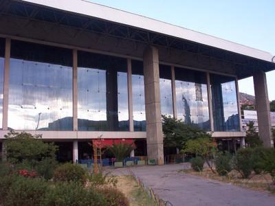 MOSTAR,  BOSNIA  HERZEGOVINA.--  Railway  station.i  left  from here  on  second  visit,  for  Sarajevo.