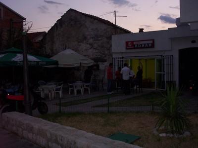 MOSTAR,BOSNIA  HERZEGOVINA.   Outside  a  Pub.