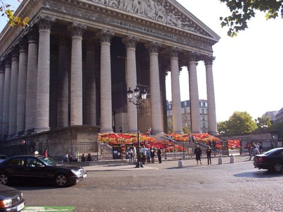 PARIS  FRANCE.  --  Church  of  Magdalene. Neo-classical facade.,like a  Greek  Temple  !