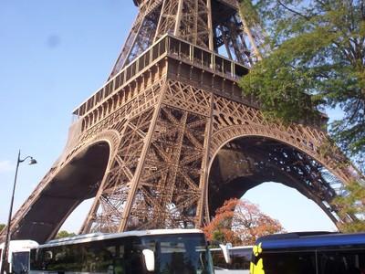 PARIS  FRANCE --  Base  of  Eiffel  Tower.