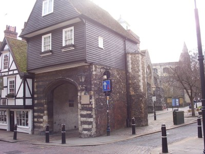 "ROCHESTER,  KENT,  UK.--  College  Gate,  formerly Cemetery Gate,also Chertsey  Gate.--in  Charles  Dickens  ""Edwin Drood"" it  was  known  as  Jaspers  Gatehouse."