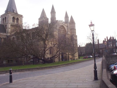 ROCHESTER, KENT,  UK.  --  Cathedral.   The  Cathedral  founded  a school  in  AD 604,  today  it  is  called  Kings School.