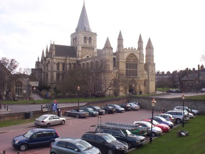 ROCHESTER, KENT,  UK.  -- Cathedral  founded  by  King Ethelbert  of  Kent  in AD 604.