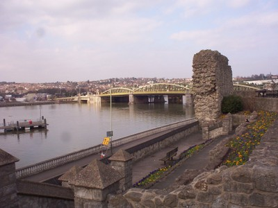 ROCHESTER,  KENT  UK.  --Bridge  over  the  river  Medway, from  Castle.  This  bridge  opened  1914.