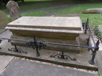 GRAVE OF SAMUEL WESLEY IN PARISH CHURCHYARD EPWORTH,LINCOLNSHIRE ENGLAND.