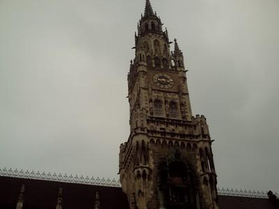 MUNICH,  GERMANY.  Neues,  Rathaus.  tower.