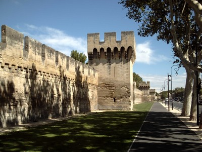 AVIGNON  FRANCE.  Wall is  8m  high and  4-3 km  long.  From  14th  century  France,