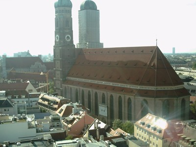 MUNICH,  GERMANY.  --Cathedral  of our  Dear  Lady. From  tower  of  Town  Hall.