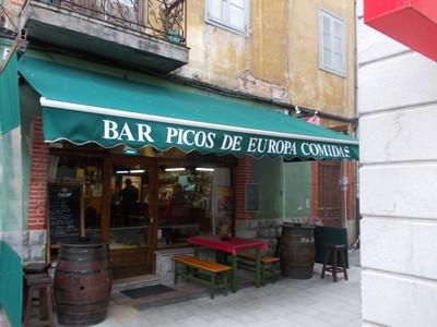 LLANES,  SPAIN.  --   This  Bar  is  in  Calle de Manuel  Romano.    Good  Food.